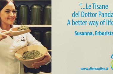 Ecco Susanna, erborista e 'I consigli del Dottor Panda'. Nuova rubrica per essere sempre più in forma!