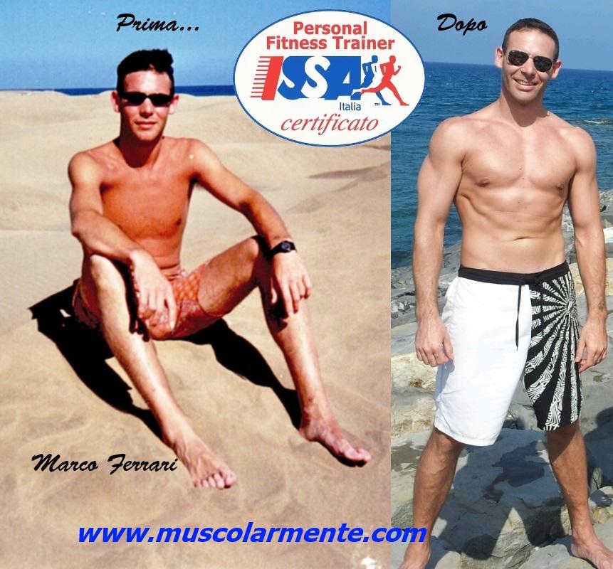 Marco Ferrari personal Trainer. Prima e dopo