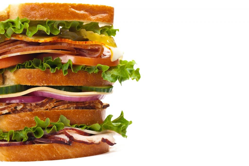 Freshly made sandwich