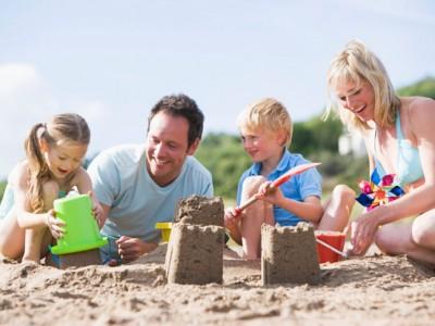 Castelli di sabbia in famiglia
