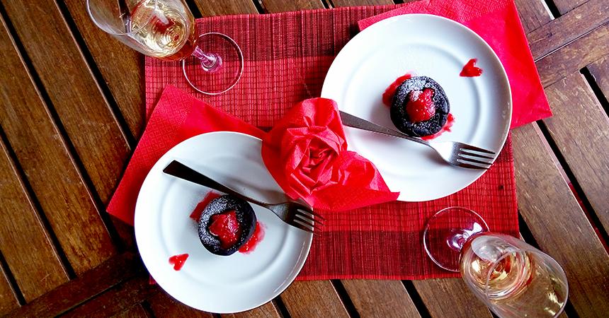 Dolce di San Valentino: Soufflè cioccolato e lampone