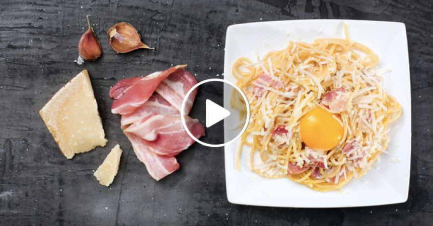 Pasta alla Carbonara light [VIDEO]